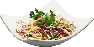 Салат из свежей купусты с растительным маслом