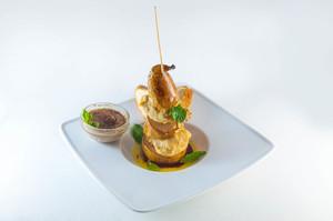 Индейка с грушей Дор-Блю и Крем Брюле из печени