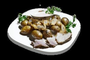 Картофель запеченный с салом (порция)
