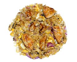 Рис с курицей и грибами