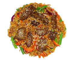 Рис с телятиной и овощами