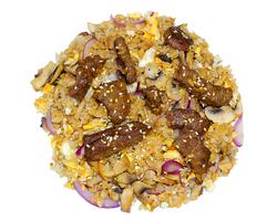 Рис с телятиной и грибами